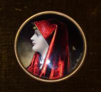 Enamelled Miniature Portrait Saint Fabiola after Jean Jacques Henner (3 of 6)