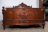 Beautiful Carved Walnut European King Size Bed (2 of 13)