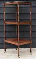 Fine Quality 19th Century Georgian Mahogany Three Tier Whatnot / Display Stand / Shelves. (6 of 11)