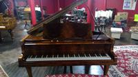 Elegant English Eavestaff Queen Anne Style Grained Walnut Grand Piano with Matching Duet Piano Stool (2 of 8)