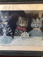 "Victorian Louis Wain Print ""The Wedding Breakfast"" Advertising Mellin's Food Biscuits (12 of 14)"
