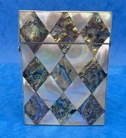 Victorian Mother of Pearl & Abalone Card Case (3 of 11)