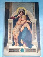 William-Adolphe Bouguereau 'la Rochelle 1825-1905' Copy of Madonna Enthroned (8 of 8)