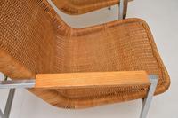 Pair of Vintage Chrome & Rattan Armchairs by Dirk Van Sliedrecht (7 of 11)