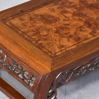 Qing Period Chinese Rosewood & Burr Wood Low Table (2 of 8)