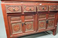 Finely Carved Early 20th Century Oriental Sideboard (5 of 6)