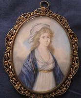 Regency Miniature Portrait Gold Initials to the back (2 of 4)