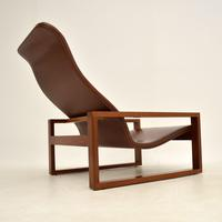 Vintage 1960's Leather & Rosewood Armchair (4 of 12)