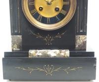 Antique French Slate & Marble Mantel Clock 8 Day Striking Mantle Clock (8 of 10)