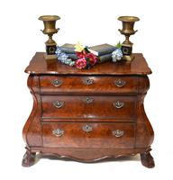 Dutch Bombe Commode Antique Chest of Drawers 1920 (2 of 13)