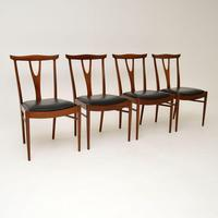 Set of 4 Vintage Dining Chairs in Rosewood & Afromosia (8 of 12)