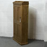 Tall Slim Shallow Old Pine School Cupboard (4 of 5)