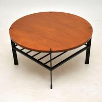 1960's Vintage Teak & Steel Coffee Table (2 of 8)