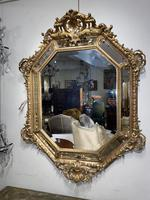 Large Gilt Cushion Mirror (5 of 9)