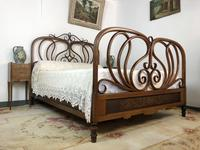 Antique Bentwood Large Double Bed By Jacob & Josef Kohn c.1900