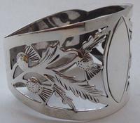 Pair of Walker & Hall Scottish Thistle 1927 Silver Napkin Rings Serviette Ring (4 of 9)