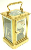 Good Antique French 8-day Carriage Clock Bevelled Case with Bell Alarm Feature (7 of 13)