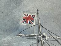 """Edwardian Watercolour """"Champion Of The Seas"""" Ship Black Ball Line Off Cape of Good Hope Signed Pierhead Artist Williams (28 of 39)"""