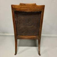 Regency Library Armchair With Leather Cushions (5 of 8)