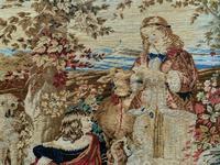 Large Beautiful Framed Original 19thc German Berlin Needlework Tapestry Picture (6 of 15)