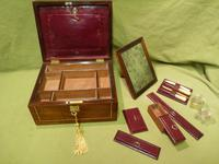 Unisex Rosewood Fitted Jewellery – Dressing Box. c1835 (10 of 12)