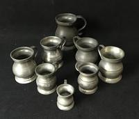 8 Victorian Pewter Measures of Various Sizes (2 of 4)