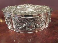 Antique Cast Silver Shaped Table Box (6 of 8)