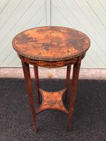 Antique Poker Point Floral Table