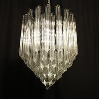 Italian Venini Crystal Triple Light Chandelier (2 of 10)