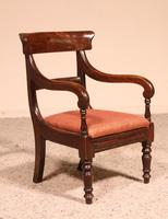 Small Child Chair from 19th Century in Mahogany- England