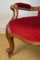 Victorian Red Velvet Armchair (8 of 9)
