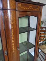 Edwardian Inlaid Display Cabinet (3 of 6)