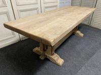 French Bleached Oak Farmhouse Dining Table (4 of 15)