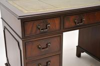 Antique Georgian Style Mahogany Leather Top Pedestal Desk (9 of 10)