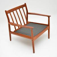 Pair of Danish Teak Vintage Armchairs by Grete Jalk (6 of 11)