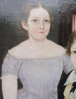 Large Oil on Canvas Portrait of Brother & Sister 1860 (4 of 13)