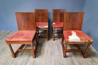 Set of 4 Heals Oak Dining Chairs (4 of 7)