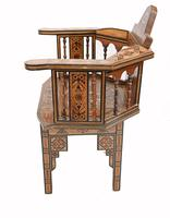 Pair of Damascan Chairs Inlay Arabic Syrian Interiors c.1920 (8 of 12)