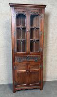 Wood Bros Old Charm Furniture Oak Corner Cabinet