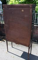 1920s Mahogany 2 Door Glass China Cabinet with Drawers (5 of 5)