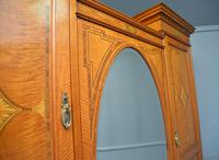 Stunning Victorian Satinwood & Marquetry Compactum Wardrobe (12 of 24)