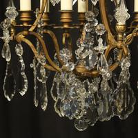 French Gilded 7 Light Antique Chandelier (4 of 10)