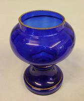 Antique 20th Century Bristol Blue Glass Posey Vase (4 of 4)
