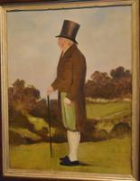 English Naive Oil Painting of Gentleman (3 of 6)