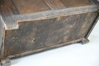 Antique Rustic Oak Coffer (12 of 13)