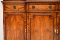 Antique Yew Wood Sheraton Style Breakfront Bookcase (5 of 12)