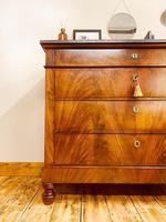 Antique Flamed Mahogany Chest of Drawers / Washstand / Commode With Marble (2 of 5)