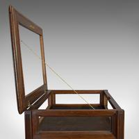 Antique Bijouterie Table, English, Walnut, Glass, Display, Edwardian c.1910 (10 of 12)