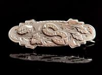 Antique Victorian Silver Double Horseshoe Brooch (3 of 9)