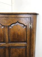 Early 20th Century Oak Corner Cupboard (6 of 8)
